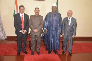 Photographs of High Commissioner during credential presentation in Sierra Leone