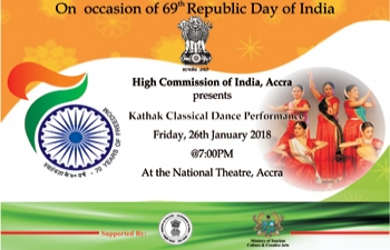 High Commission of India is organising - Kathak Classical Dance Performance at the National Theatre, Accra.