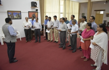 The High Commission of India in Accra celebrated the National Voters Day (NVD) on 25th January, 2019 at the Multi-Purpose Hall of the High Commission. On this occasion, the High Commissioner of India to Ghana also administered the 'Voters Pledge' to the members of the various regional Indian Associations and overseas Indians who were present and also to the all India-based officials of the High Commission. High Commissioner also encouraged all NRIs to enroll and participate in the elections process.