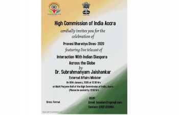 PRAVASI BHARATIYA DIVAS 2020 WAS CELEBRATED IN ACCRA