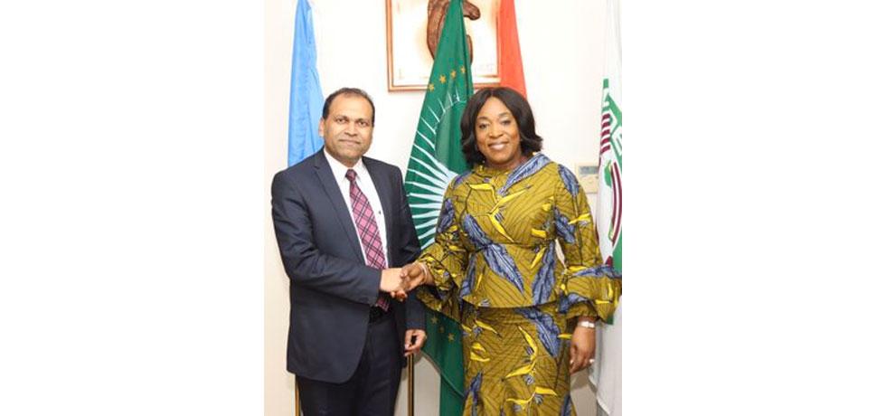 H.E. Sugandh Rajaram called on H.E. Shirley Ayorkor Botchway, Foreign Minister of Ghana
