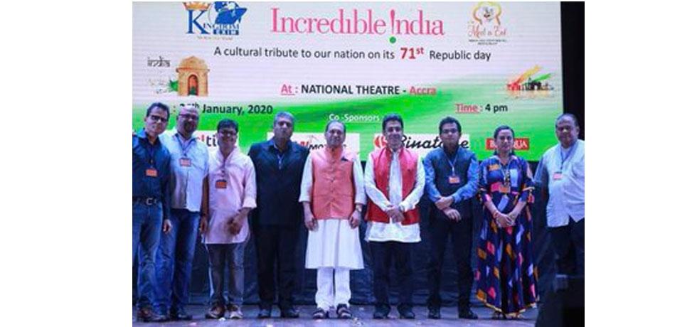 H.E. Sugandh Rajaram at Incredible India show