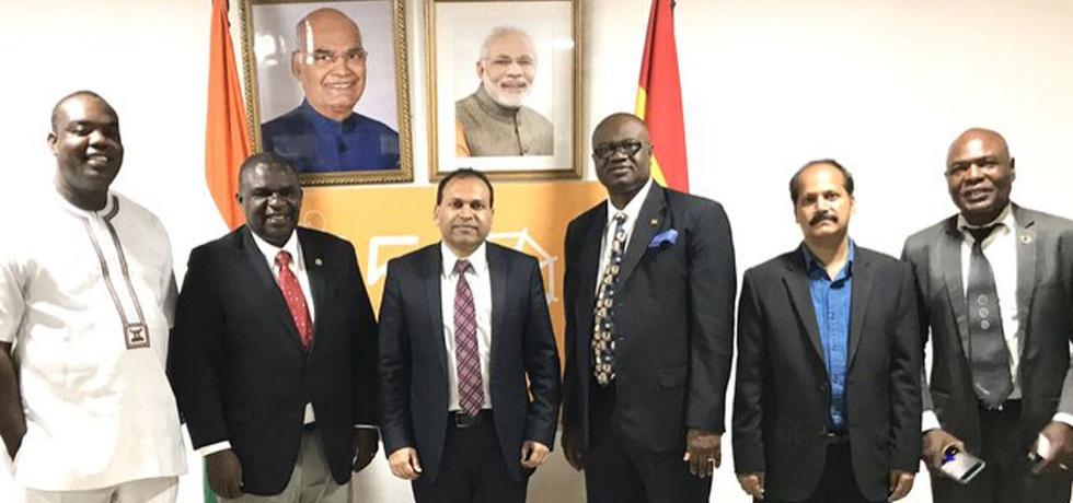 High Commissioner H.E. Sugandh Rajaram  with members of Ghana-India Parliamentary Friendship Association