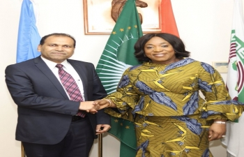High Commissioner Sugandh Rajaram called on Minister of Foreign Affairs and Regional Integration of Ghana, H.E. Shirley Ayorkor Botchway.
