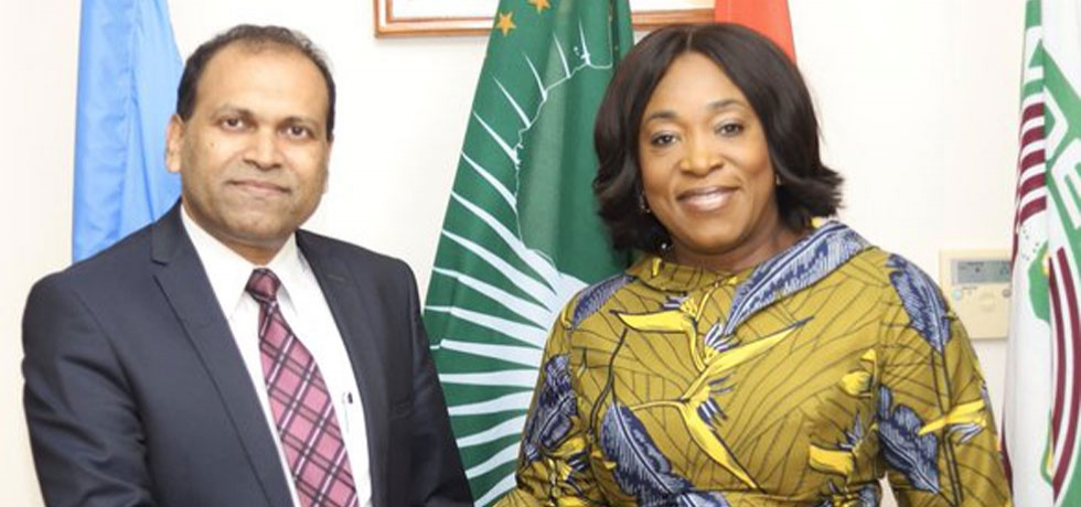 High Commissioner H.E. Mr. Sugandh Rajaram called on Minister of Foreign Affairs and Regional Integration of Ghana, H.E. Shirley Ayorkor Botchway.