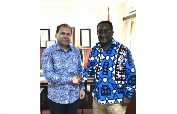 High Commissioner Sugandh Rajaram called on Food & Agriculture Minister Hon. Dr. Owusu Afriyie Akoto on 21 February, 2020.