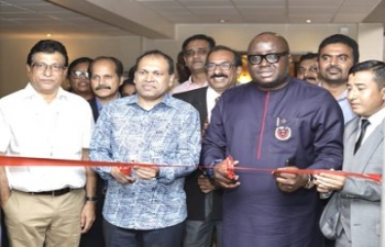 High Commissioner Sugandh Rajaram inaugurated 2nd India Education Fair in Accra on 21 February, 2020 along with High Commissioner of Ghana to India,  Mike Oquaye Jnr.