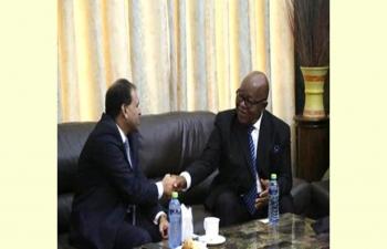 High Commissioner Sugandh Rajaram called on Hon. Speaker of Parliament of Ghana Prof. Mike Oquaye.