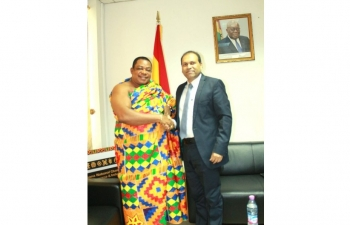 High Commissioner Sugandh Rajaram met Nana (Dr) Appiagyei Dankawoso I, President, Ghana National Chamber of Commerce.