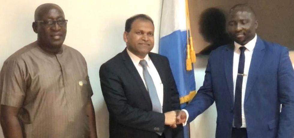 High Commissioner Sugandh Rajaram  met Deputy Foreign Minister of Sierra Leone,  Soloman Jamiru.