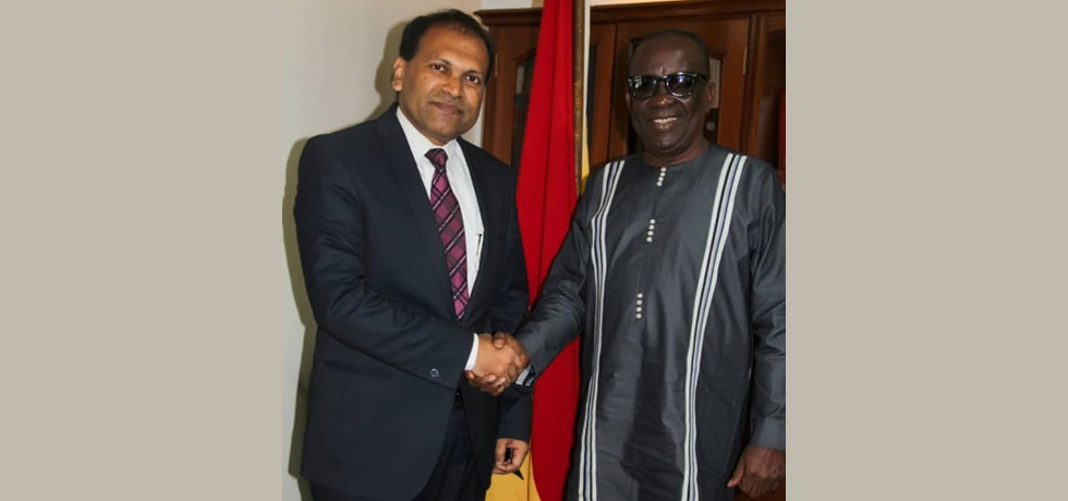 High Commissioner Sugandh Rajaram called on Minister of National Security of Ghana, Hon'ble Albert Kan-Dapaah.
