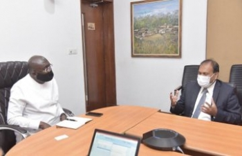 High Commissioner calls on Hon. Mahamudu Bawumia, Vice President of Ghana
