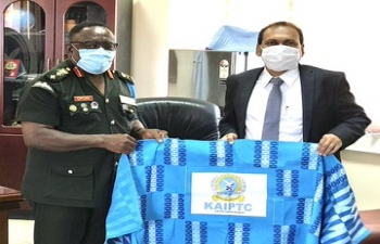 High Commissioner  visits Kofi Annan International Peace Keeping Training Centre in Accra