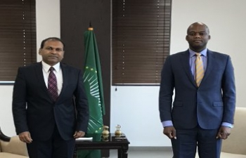 High Commissioner met African Continental Free Trade Area (AfCFTA) Secretary General Wamkele Mene on 29 September, 2020