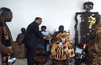 High Commissioner called on Chief of Essikado Nana Kobina Nketsia V on 10 September, 2020