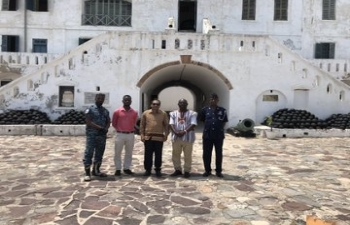 High Commissioner at World Heritage sites of Elmina & Cape Coast Castles & Kakum National Park, October 2020