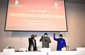 High Commissioner, H.E. Mr. Sugandh Rajaram, launched India Business Forum Ghana in Accra on 23rd November 2020