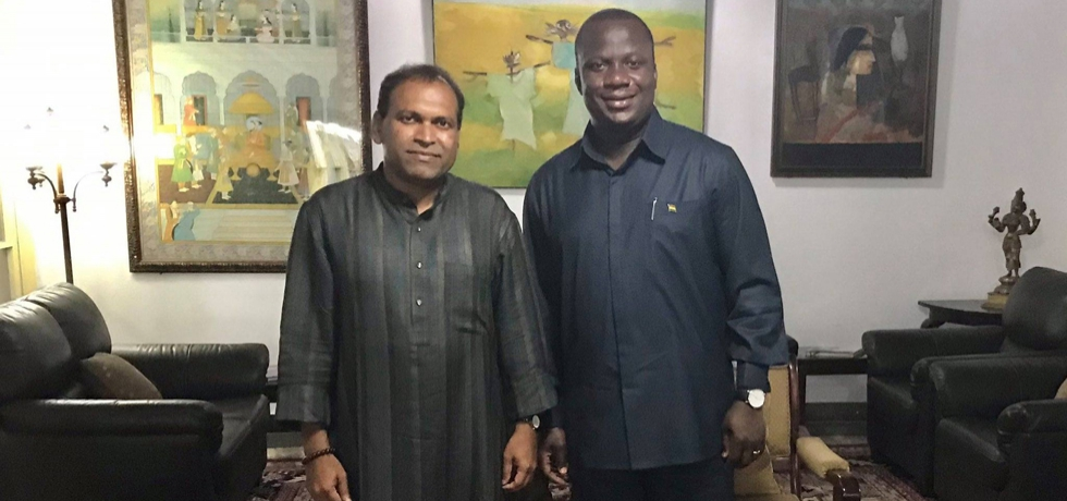High Commissioner hosts Hon'ble Minister for Lands & Natural Resources Samuel Jinapor at India House to discuss issues of intensifying economic relations between India & Ghana