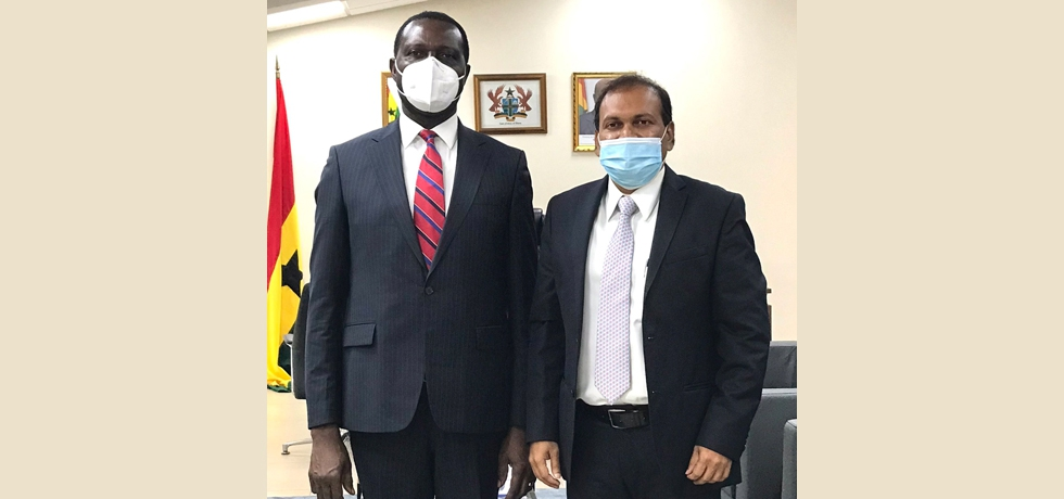 High Commissioner calls on Dr Yaw Osei Adutwum, Minister of Education for Ghana