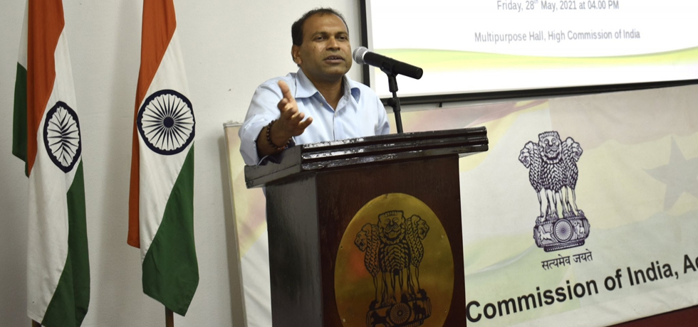 High Commission addresses the session on 'India@75: Growing together with Diaspora' of Indian Community Forum