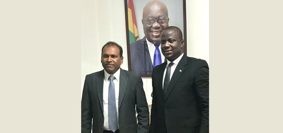 High Commissioner calls on Hon. Samuel Jinapor, Lands & Natural Resources Minister of Ghana