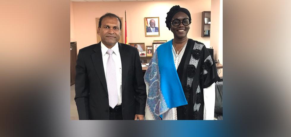 High Commissioner calls on Hon. Ursula Owusu Ekuful, Communications Minister of Ghana.